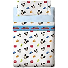Disney Mickey Colors - Juego de sábanas de 3 piezas para cama de 90 cm
