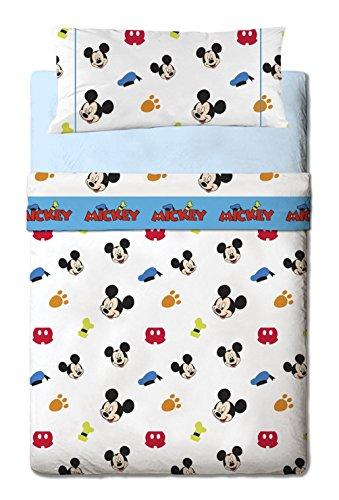 Disney Mickey Colors - Juego de sábanas de 3...