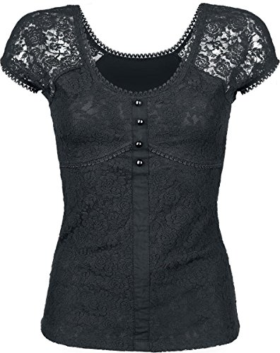 Gothicana by EMP Lace Shirt Maglia donna nero XL