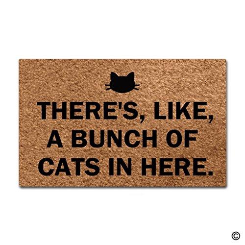 ZiQing-Felpudo de Entrada - Hay, Like, un Ramo de Gatos en Esta Alfombra para Sala de Estar, Interior/Exterior/Puerta...