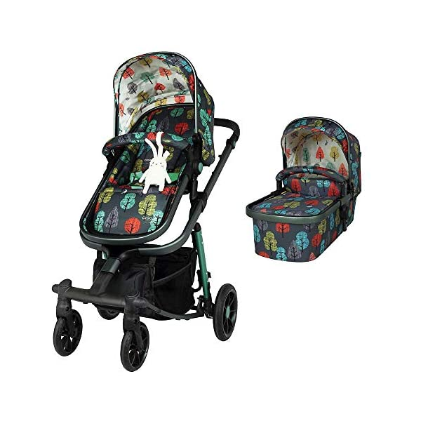 Cosatto Giggle Quad Pram & Pushchair Hare Wood Cosatto Enhanced performance. unique tyre material and all-round premium suspension give air-soft feel. Comfy all-round. spacious carrycot for growing babies.  washable liner. reversible reclining seat. Ultimate buy. tested up to a mighty 20kg for even longer use. big 3.5kg capacity basket for big shop 1