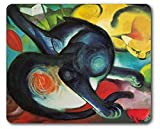 1art1 89648 Franz Marc - Zwei Katzen, Blau und Gelb, 1912 Mauspad 23 x 19 cm