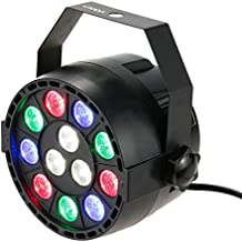 Lixada Luz de Escenario PAR Estroboscópico Profesilonal LED Luces 8Canales RGBW para Bares Fiesta Discoteca Espectáculo Disco DJ partido boda fiesta de Navidad festivos 15W AC 100-240V DMX-512