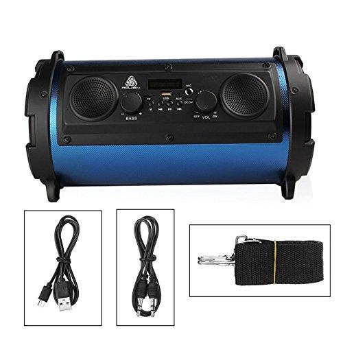 15 Watt LCD Tragbare Drahtlose Bluetooth Lautsprecher Super Bass Subwoofer Stereo Musik Player FM Transmitter Unterstützung AUX TF karte