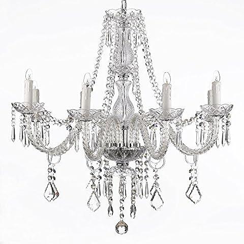 Saint Mossi Moderne Moderne Elegante Kristall Glas Kronleuchter Anhänger Deckenbeleuchtung - 6 Lichter