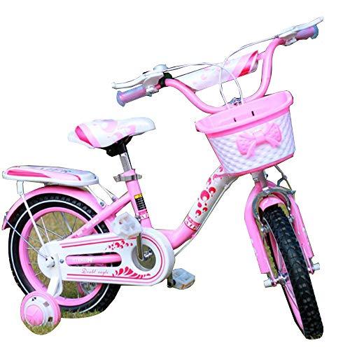 """YUMEIGE Kinderfahrräder Freestyle Jungen Mädchen Kinder Kinder Kinderfahrrad Höhenverstellbar Vom Lenkersitz Fahrrad 4 Farben, 12 \""""14\"""" 16 \""""18\"""" Mit Stützrad (Color : Pink, Size : 18in)"""