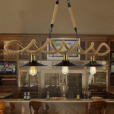 SJMM Loft rétro industriel fer Vintage plafonnier lustre suspension luminaire