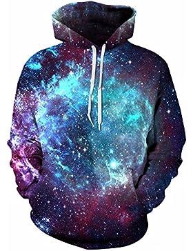 Molla dello spazio felpe con cappuccio Felpa Galaxy 3D felpa con cappuccio cappotto con cappuccio Casual Streetwear...