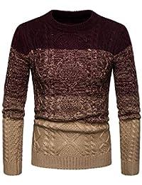 c7a2a6f265298 GUOCU Suéter de Hombre Otoño Invierno Jersey de Punto Delgado Abrigo de  Hombre ...