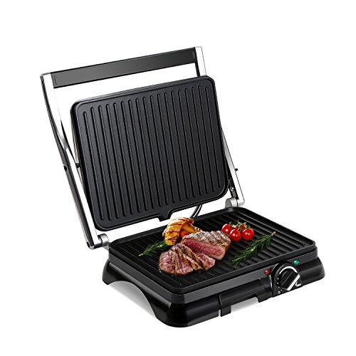 Aigostar Samson 30KLU- Multifunktionaler xxl Kontaktgrill Panini Grill,Sandwich Maker,2000 Watt,...