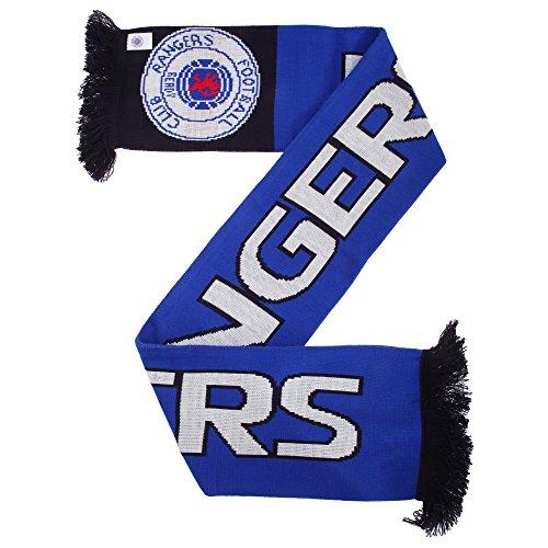 Fußball-Schal Rangers FC (Einheitsgröße) (Blau/Schwarz/Weiß)