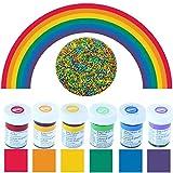 yagma Lebensmittelfarben im Spar-Set 6 x 28 g - Regenbogenmix