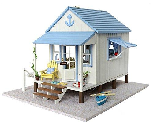 enhaus Handwerk Miniatur Kit - Beach House Modell & Möbel & Voice Controller Spieluhr ()