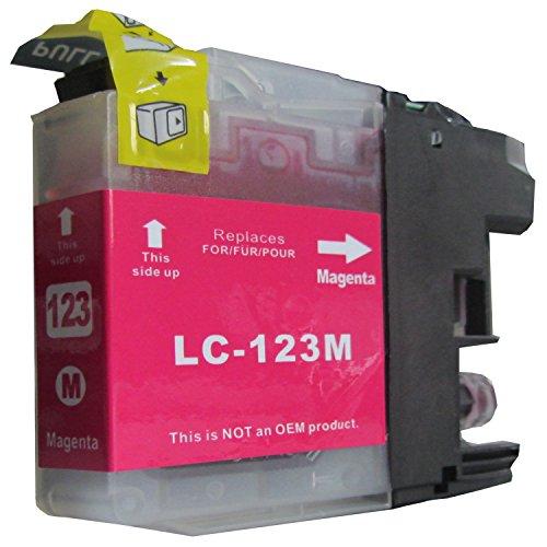 rot / magenta komp. XL Druckerpatrone mit Chip für Brother MFC j245 j470DW j650DW j870DW j4410DW j4510DW j4610DW j4710DW j6520DW j6720DW j6920DW / Brother DCP j132W j152W j552DW j752DW j4410DW für mit Chip