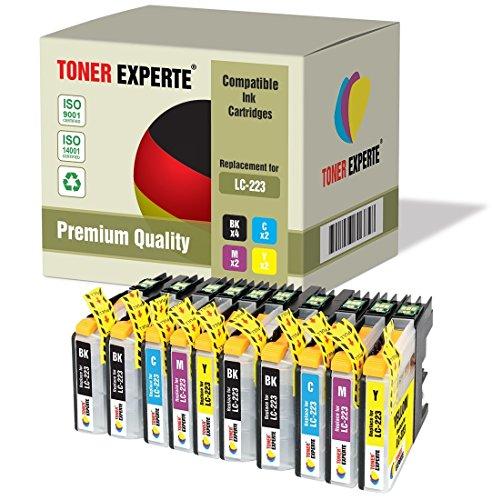 10 XL TONER EXPERTE LC223 Druckerpatronen kompatibel für Brother DCP-J4120DW, DCP-J562DW, MFC-J4420DW, MFC-J4425DW, MFC-J4620DW, MFC-J4625DW, MFC-J480DW, MFC-J5320DW, MFC-J5620DW, MFC-J5625DW, MFC-J5720DW, MFC-J680DW, MFC-J880DW