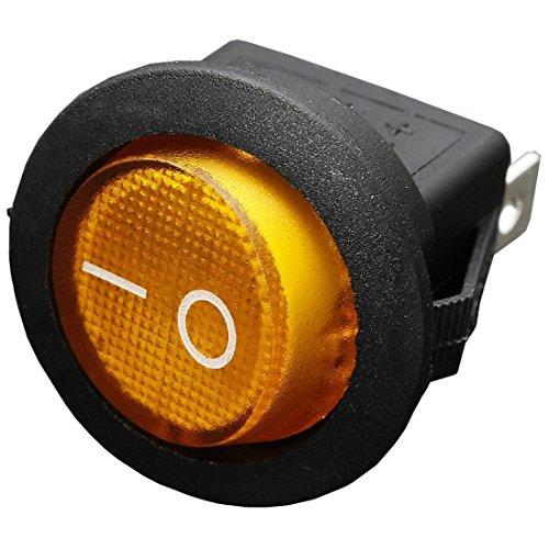 REFURBISHHOUSE 12V 16A LED Kippschalter Bipolar ON/Off SPST Fuer Auto Boot - Gelb -