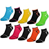 6 oder 12 Paar Damen NEON Sport Sneaker Socken mit verstärkter Frotteesohle - 36850