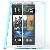 moex HTC One M7 | Hülle Slim Transparent Hell-Blau Impact Back-Cover Dünn Schutzhülle Silikon Handy-Hülle für HTC One M7 Case TPU Tasche Matt