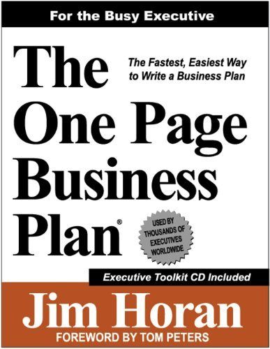 The One Page Business Plan for the Busy Executive by Jim Horan (2011-04-02)