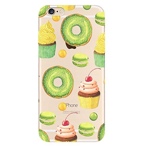 IPHONE 6splus Hülle Meerjungfrau Ananas Liebe Muster TPU Silikon Schutzhülle Handyhülle Case - Klar Transparent Durchsichtig Clear Case für iPhone 6splus hw16