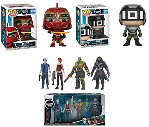 Funko POP Ready Player One Daito Sixer 4 Collectible Action Figures Parzival Art3mis Aech i Rok Stylized Vinyl Figure Bundle Set NEW