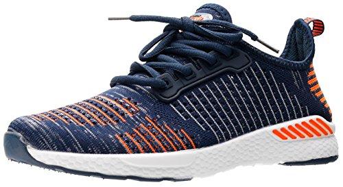 JOOMRA Damen Sport und Freizeit Running Schuh Schuhe Sportschuhe auf der Straße und Offroad Mädchen und Jungen Sneaker Orange, Blau, Weiß 36 EU (37 Asien) (Off-road-laufschuhe)