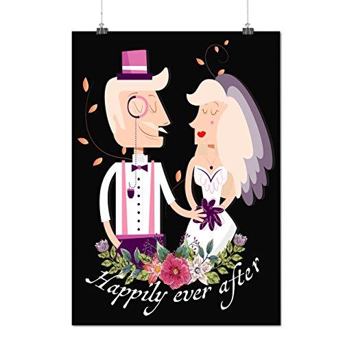Glücklich Ehe Hochzeit Fee Geschichte Mattes/Glänzende Plakat A4 (30cm x 21cm) | Wellcoda