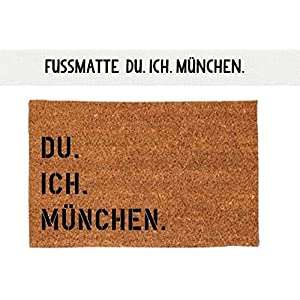 Kokosfußmatte Teppich DU. ICH. MÜNCHEN. 40 x 60 cm