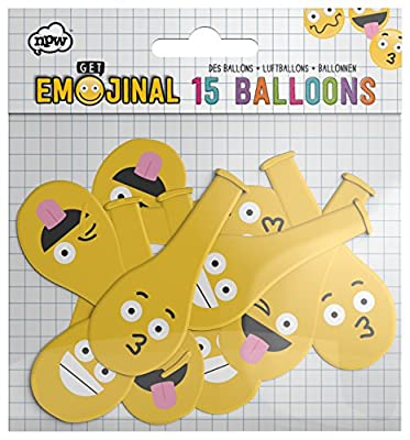 NPW - Ballons Emoticones (lot de 15)