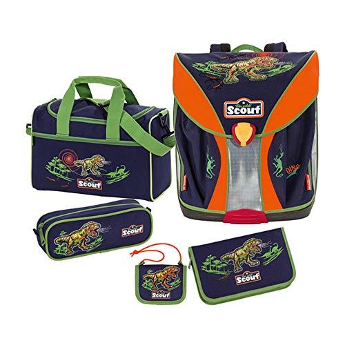 Scout 71500263700 - Schulranzen Set 5tlg. Set Dino Expidition Nano