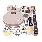 ammoon Diy Guitar Kits Unfinished Elektrische E-Gitarren LP Stil Unfinished E-gitarre DIY Kit Set Mahagoni Körper & Hals Rose Holz Griffbrett