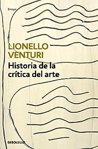 Historia de la crítica del arte par Lionello Venturi