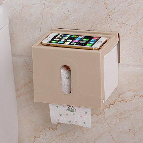 Kunststoff Sucker Rolle Papier Halter WC-Wasserdicht Sucker Papier Handtuch Rack khaki