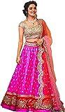 SagarFab Pink Colour Lehenga Choli With Embroidery Work For Women