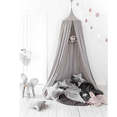 Kinder Betthimmel rund Dome, Baumwolle Moskitonetz, Kids Prinzessin Play Zelte, Raum Dekoration für Baby (Prinzessin Material Für Raum)