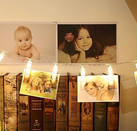 LED Photo Clips, Bukm 20 LED Photo Clip Pince Guirlande