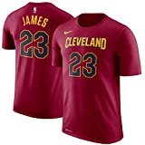 Nike NBA Cleveland Cavaliers Lebron James 23 2017 2018 Icon Edition Name & Number Official, Camiseta...