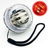 Allenatore di Polso Palla Esercitatore Mano Spinner Palla giroscopica Palla giroscopica in Metallo con Luce a LED
