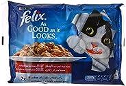 مجموعة اكياس طعام رطب للقطط بورينا از جود از ات لوكس بنكهة لحم البقر والدجاج بوزن 100 غرام مكونة من 4 قطع من ف