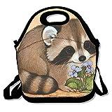 kkwodwcx Lovely mapache con aislamiento bolsa para el almuerzo Bolsas de picnic Gourmet bolsas de almuerzo reutilizables para trabajo de la escuela–mejor bolsa de viaje