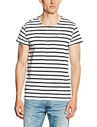 SELECTED HOMME Herren T-Shirt Shdstroke Ss O-Neck Tee