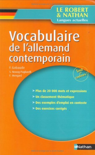 Vocabulaire de l'allemand contemporain