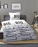 PRIMERA Renforcé Bettwäsche Big Love grau 135x200 + 80x80 cm