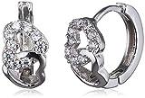 findout Damen-Ohrringe Herz zu Herz Swarovski Kristall Sterling Silber F555