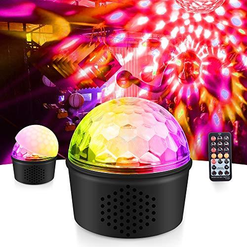 Mictuning 3-in-1-Nachtlicht, drahtloser Bluetooth-Lautsprecher, USB, Lampe, Sound Stage 9 W, 9 Farben, mit Fernbedienung, Zeitfunktion, schnurlose Verbindung für Kinderzimmer, etc.