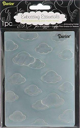 Darice 1217-53  Prägeschablone, Wolken, Plastik, transparent, 10,8 x 14,6 x 0,4 cm Sizzix-stanzformen Für Die Big Shot Pro