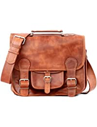 PAUL MARIUS Cartable en Cuir Naturel marron (M)