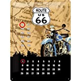 Nostalgic-Art 20360 US Highways Route 66 Map, Blechschild, 30 x 40 cm