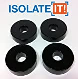 isolate it! Sorbothane - Arandela con aislamiento de vibraciones (dureza Shore 50, diámetro interior 1,27 cm, diámetro exterior 3,81 cm, espesor 1,27