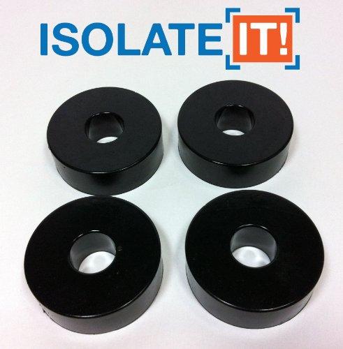 Sorbothane Vibration Isolation Waschmaschine 70Duro mit 3M Klebstoff (1,27ID–3,81cm od–1, 27cm dick)–4Pack (Isolation Waschmaschine)